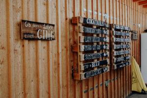 s'Loch Gin-Fest - Getränketafel